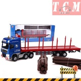Wood Transporter Model Timber Truck 1-50 KDW
