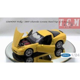Chevy Corvette Z06 2007 Yellow 1-24 Welly