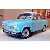 Trabant 601 ivory blue 1-24 diecast model car by Welly