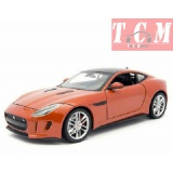 JAGUAR F-TYPE 2015 BRONZE 1-24 DIECAST MODEL CAR BY WELLY