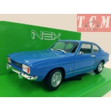 FORD CAPRI 1969 Blue DieCast Model 1-24 Scale by Welly