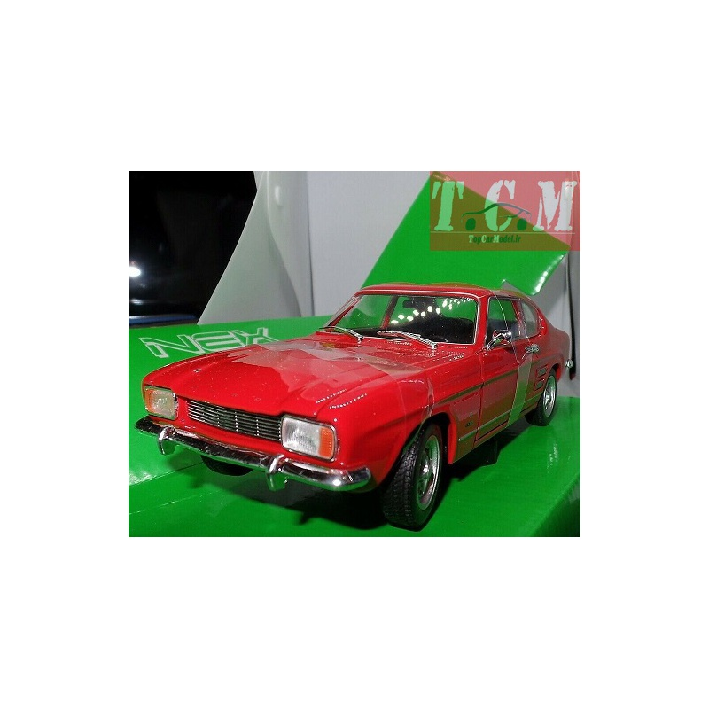 FORD CAPRI 1969 Red DieCast Model 1-24 Scale by Welly