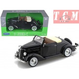 FORD DELUXE CONVERTIBLE 1936 BLACK 1-24 BY WELLY