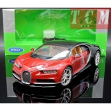 Bugatti Chiron 2016 Red 1-24 Scale by Welly