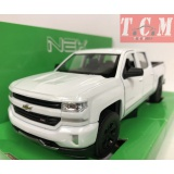 Chevy Silverado 2017, White 1-24 Scale Diecast by Welly