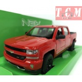 Chevy Silverado 2017, RED 1-24 Scale Diecast by Welly
