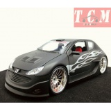 Peugeot 206 Tuning Maxi Tuner (mat black) - 1-24 Welly 22486
