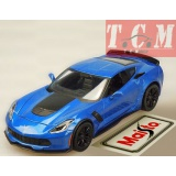 Chevrolet Corvette Z06 2015 Blue 1n 1-24 Scale by Maisto