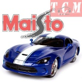 Dodge Viper GTS SRT 2013 Blue Custom 1-24 Diecast Model Car by Maisto