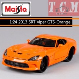 Dodge Viper GTS SRT 2013 Orange 1-24 Diecast Model Car by Maisto