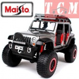 Jeep Wrangler 2015 Unlimited Grey Off Road Kings 1-24 Diecast Model Car by Maisto