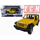 JEEP WRANGLER 2015 YELLOW 1-24 SCALE DIECAST MODEL CAR BY MAISTO TRUCKS