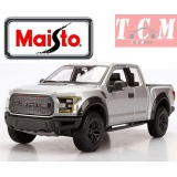 Ford Raptor Pickup Truck 2017 Silver 1-24 Diecast Model Car by Maisto
