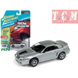 FORD MUSTANG GT 1999 SILVER 1-64 JOHNNY LIGHTNING