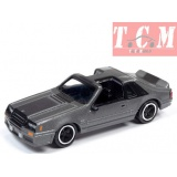Ford Mustang 5.0 GT 1982- Dark Grey in 1-64 Scale by Johnny Lightning
