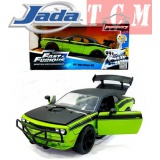 Dodge Challenger SRT8 Fast and Furious 2008 Green &Black in 1-24 Scale by Jada