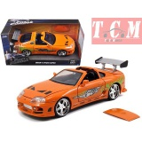 Toyota Supra Orange Fast & Furious Brian's Die-cast Car in1- 24 Scalr by Jada