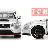 Subaru WRX STI Widebody Hard Top 2016 (JDM Tuners) Silver. It comes in 1-24 Scale diecast model replica from Jada