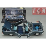 Lincoln X100 Kennedy Convertible Car 1961 Dark Blue 1-24 scale diecast car models by Yat Ming
