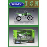 KAWASAKI KX 250F WHITE &GREEN IN1-10 SCALE DIECAST MODEL BY WELLY