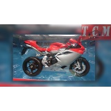 MV AGUSTA F4 Model Red& Black in 1-10 Scale Diecast Replica by Welly