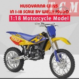 ماکت موتورسیکلت-HUSQVARNA CR125 IN 1-18 SCALE BY WELLY