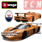 ماکت ماشین مازاراتی - Maserati MC12 Orange is a 1-24 scale diecast model replica by Bburago