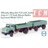 کمپرسی بنز Mercedes-Benz-Lak-1624 with Trailer is Green in 1-50 Scale by Conrad-Modelle