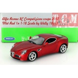 ماکت ماشین الفا رومئو Alfa Romeo 8C Competizione coupe 2007 Met Red 1n 1-18 Scale by Welly