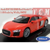 ماکت ماشین ائودی-Audi R8 V10 2016 Red Model Car in 1-18 Scale by Welly