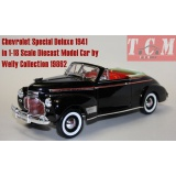 ماکت ماشین شیفرولیه Chevrolet Special Deluxe 1941 in 1-18 Scale Diecast Model Car by Welly Collection