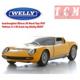 ماکت ماشین لامبورگینی Lamborghini Miura SV Hard Top 1971 Yellow in 1-18 Scale by Welly