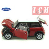 ماکت ماشین مینی کوپر Mini Cooper Hard Top Red in1-18 Scale Diecast by WELLY -