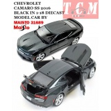 ماکت ماشین شورولت کامارو CHEVROLET CAMARO SS 2016 BLACK IN 1-18 DIECAST MODEL CAR BY MAISTO