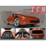 ماکت ماشین شورولت کوروت CHEVROLET CORVETTE C6 2005 BRONZE IN 1-18 DIECAST MODEL CAR BY MAISTO