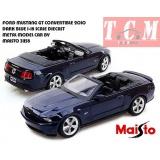 ماکت ماشین فورد ماستانگ FORD MUSTANG GT CONVERTIBLE 2010 DARK BLUE 1-18 SCALE DIECAST METAL MODEL CAR BY MAISTO