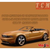 ماکت ماشین فورد ماستانگ FORD MUSTANG GT CONVERTIBLE 2010 GOLD 1-18 SCALE DIECAST METAL MODEL CAR BY MAISTO