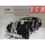 ماکت ماشین سیتروئین کلاسیک CITROEN 15CV 1952 BLACK IN 1-18 SCALE DIECAST REPLICA BY MAISTO