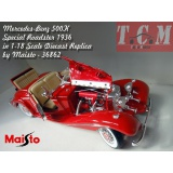 ماکت ماشین مرسدس بنز Mercedes-Benz 500K Special Roadster 1936 in 1-18 Scale Diecast Replica by Maisto