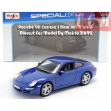ماکت ماشین پورشه Porsche 911 Carrera S Blue in1-18 Scale Diecast Car Model By Maisto