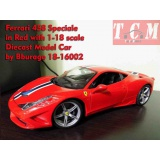 ماکت ماشین فراری Ferrari 458 Speciale in Red with 1-18 scale Diecast Model Car by Bburago