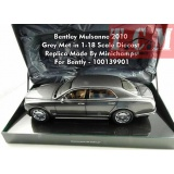 ماکت ماشین بنتلی Bentley Mulsanne 2010 Grey Met Dealermodell in 1-18 Scale Diecast Replica Made By Minichamps For Bently -