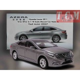 ماکت ماشین هیوندای آزرا -Hyundai Azera 2011 Gray Silver in 1-18 Scale Diecast Car Made by Paudi Models
