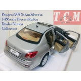 ماکت ماشین پژو 207 صندوق دار Peugeot 207 Sfdan Silver in 1-18 Scale Diecast Replica For Dealer for Edition Collection