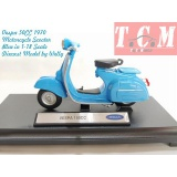 موتورسیکلت وسپا Vespa 150CC 1970 Motorcycle Scooter Blue in 1-18 Scale Diecast Model by Welly