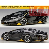 ماکت ماشین لامبورگینی Lamborghini Centenario Roadster Clear Carbon&Yellow Accents in1-18 Model Car by AUTOart