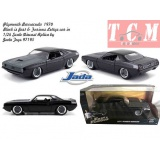 ماکت ماشین پلیموت باراکودا PLYMOUTH BARRACUDA 440 COUPE 1969 FAST & FURIOUS 7 2015 - 1-24 SCALE BY JADA