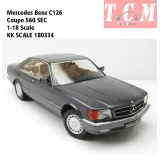 ماکت ماشین مرسدس بنز Mercedes Benz C126 Coupe 560 SEC by KK SCALE
